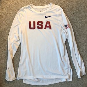 Nike Dri-Fit USA Long Sleeve